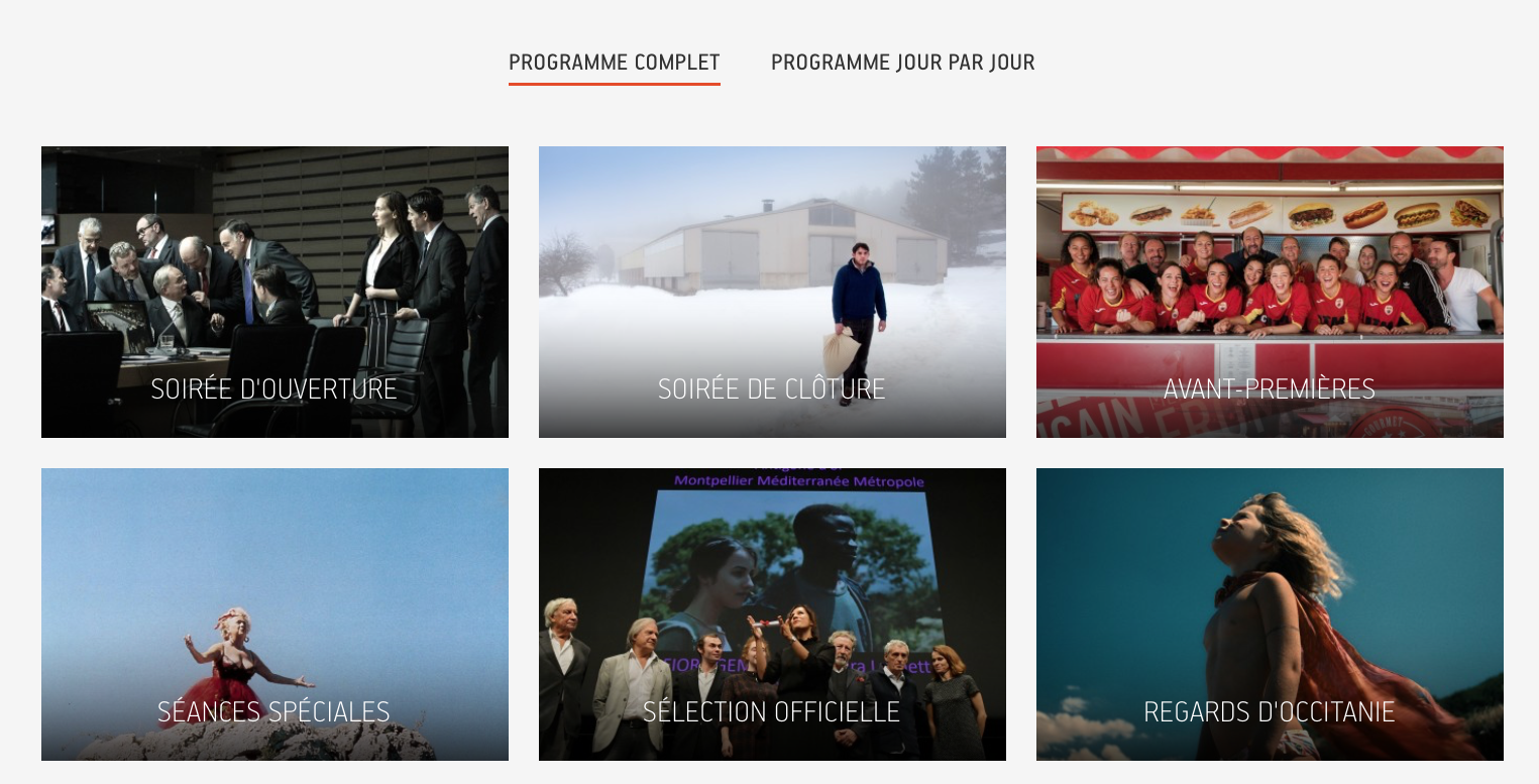Programme en ligne 41e Cinemed Montpellier